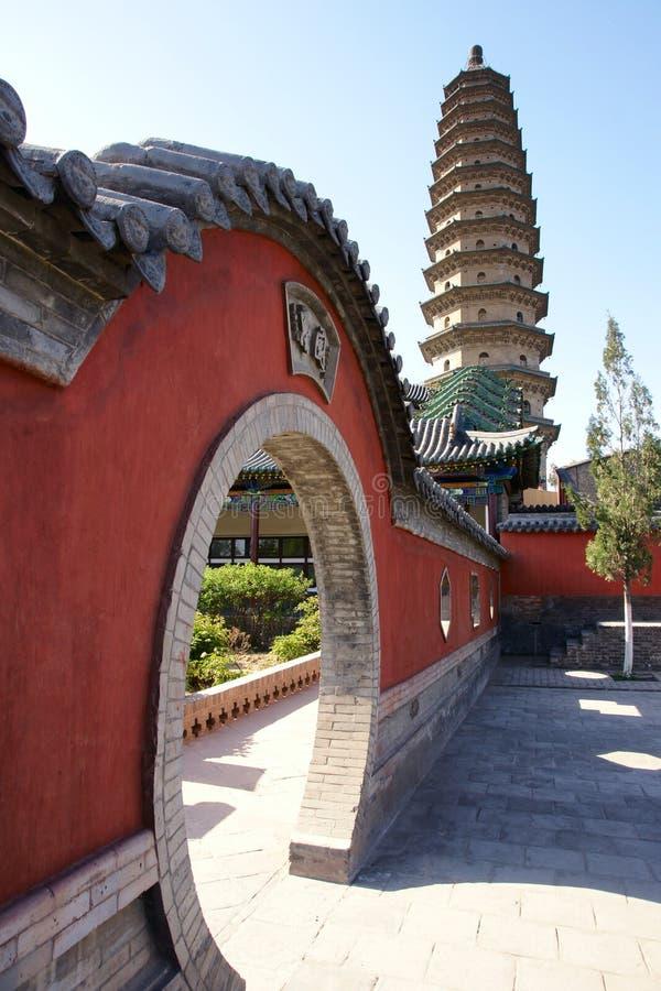 De dubbele Tempel van de Pagode stock afbeeldingen