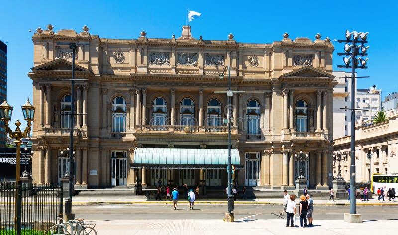 De Dubbelpunt van Teatro van het operahuis, Buenos aires stock fotografie