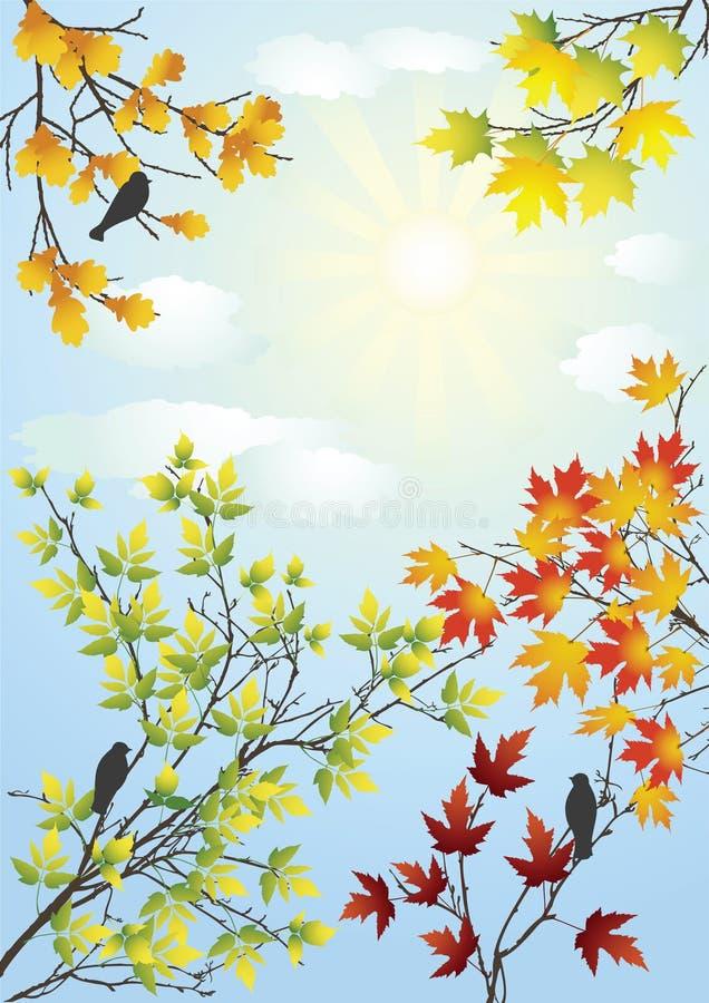 De duidelijke dag van de herfst. vector illustratie
