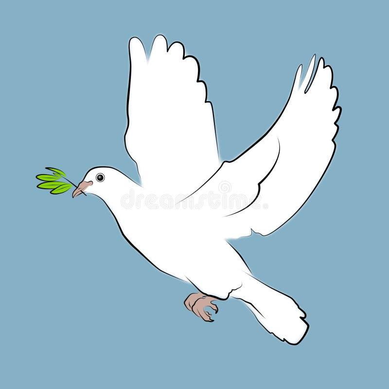De Duif van de vrede royalty-vrije illustratie