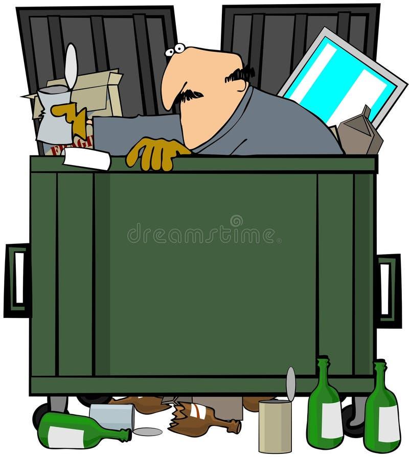 De Duiker van Dumpster royalty-vrije illustratie