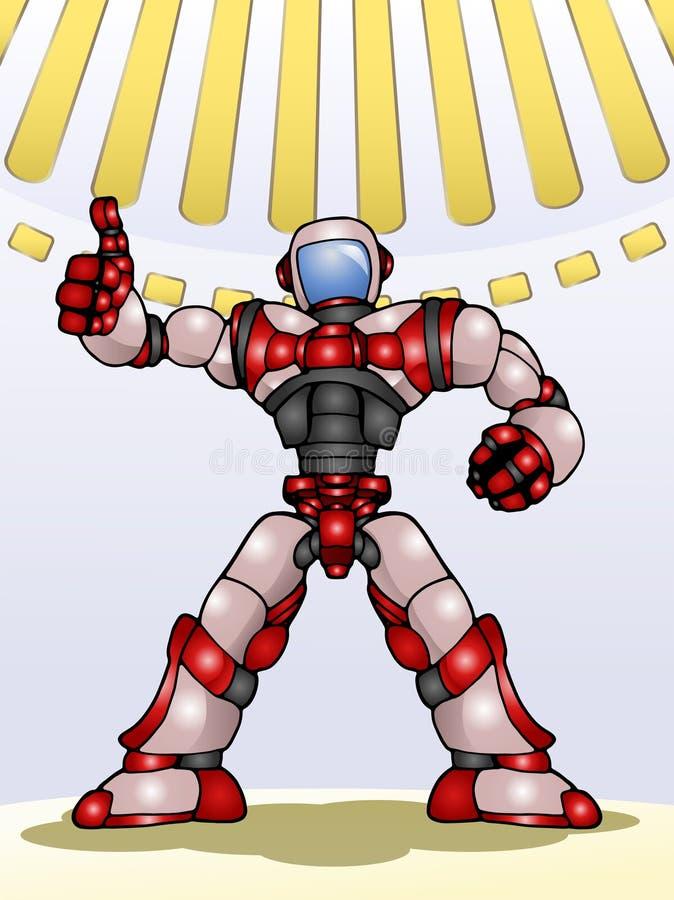 De duim van de Droidrobot omhoog vector illustratie