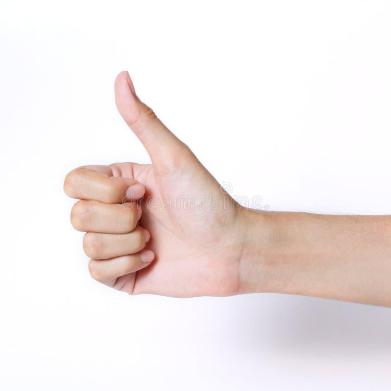De duim van de hand omhoog stock foto
