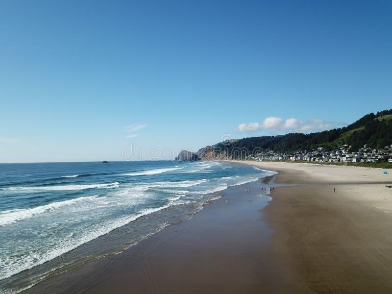 De Duim van de god, Lincoln City, Oregon, Oceaanstrand royalty-vrije stock afbeelding
