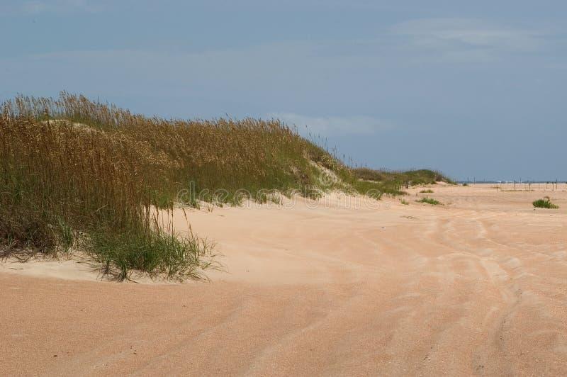 De duinen en het Strand komen samen stock afbeeldingen