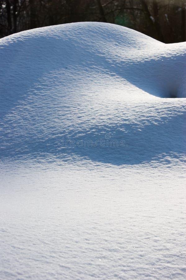 De duinen van de sneeuw royalty-vrije stock foto's