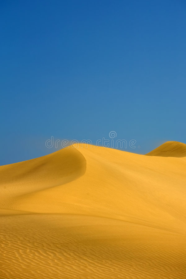De duinen van de woestijn royalty-vrije stock afbeelding