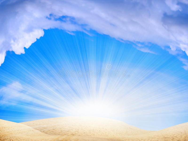 De duinen van de zon stock illustratie