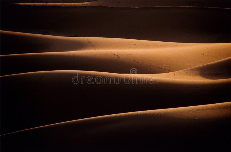 De Duinen van het Zand van Chigaga royalty-vrije stock afbeelding