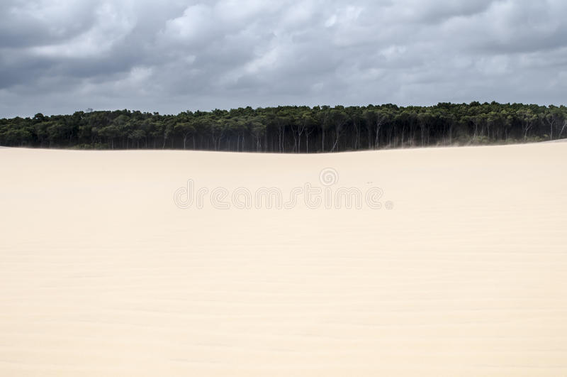 De duinen van het zand van Lencois Maranheses in Brazilië royalty-vrije stock afbeeldingen