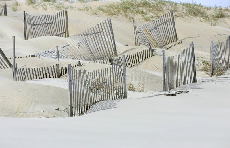 De duinen van het zand voor milieu op het strand royalty-vrije stock fotografie