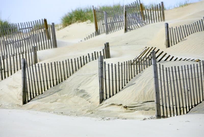 De duinen van het zand voor milieu op het strand royalty-vrije stock afbeelding