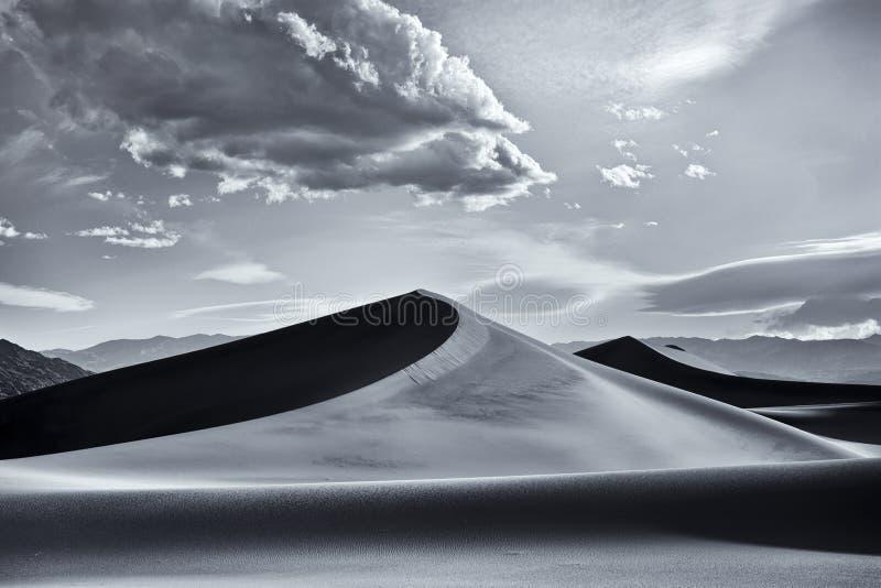 De Duinen van Mesquite, het Nationale Park van de Vallei van de Dood stock fotografie