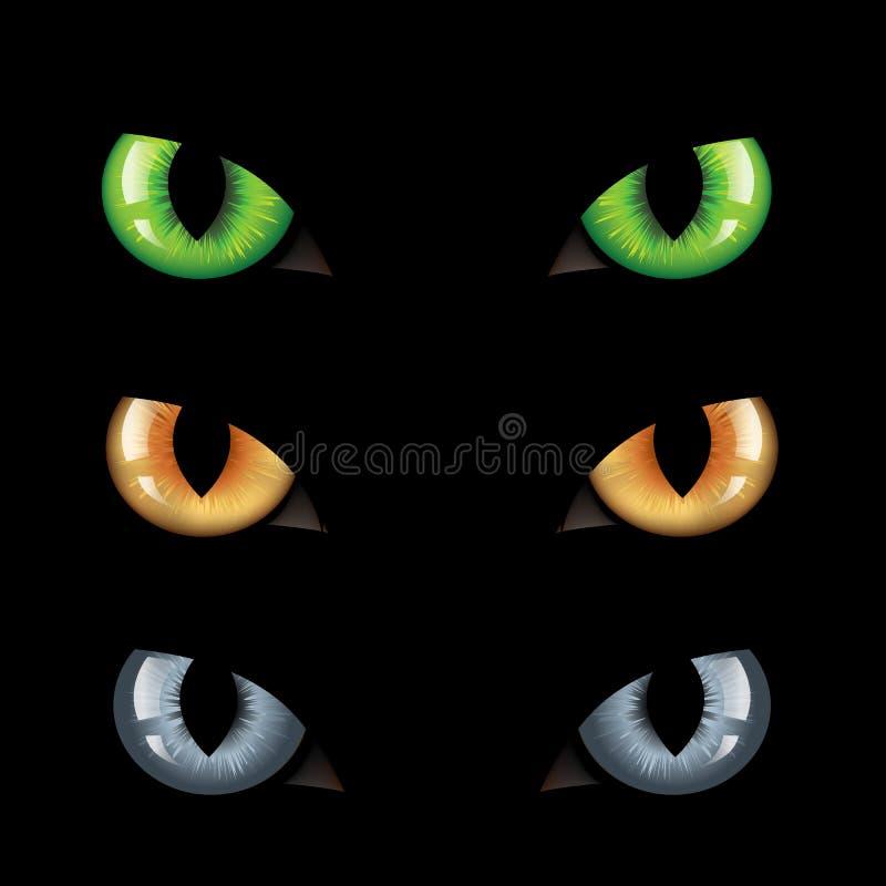 De Duisternis van de Ogen van de kat n vector illustratie