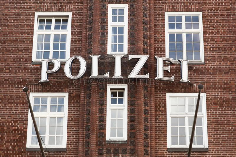 De Duits politiebouw en teken royalty-vrije stock foto