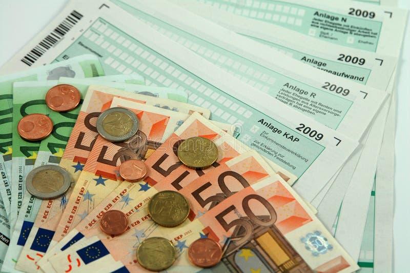 De Duitse belasting vormt 2009 stock afbeeldingen