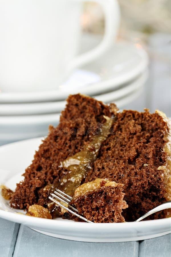 De Duitse Cake van de Chocolade royalty-vrije stock afbeeldingen