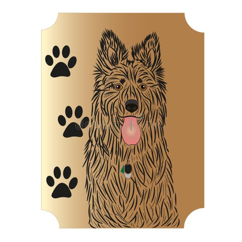De Duitse herder is een mooie grote hond royalty-vrije stock foto