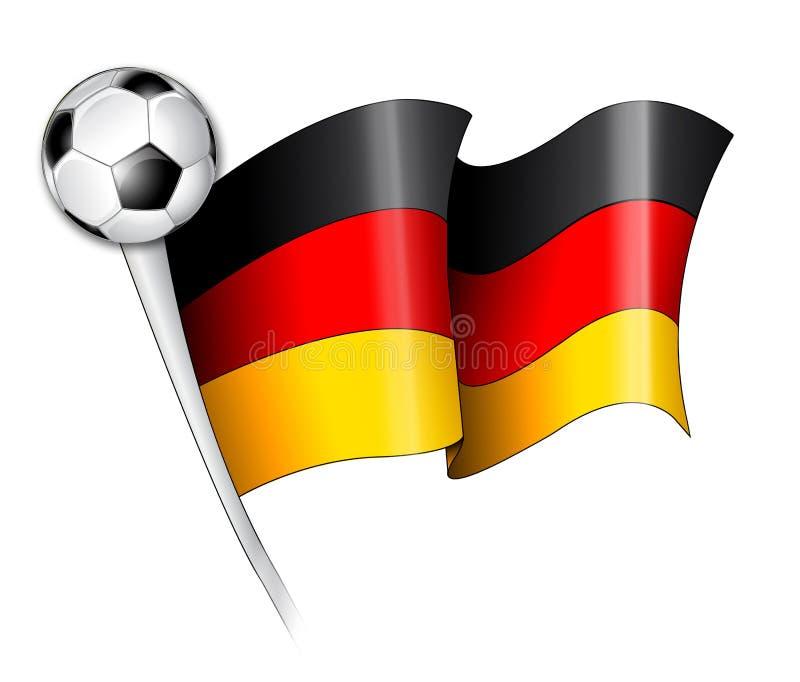 De Duitse Illustratie Van De Vlag Van Het Voetbal Stock Afbeeldingen