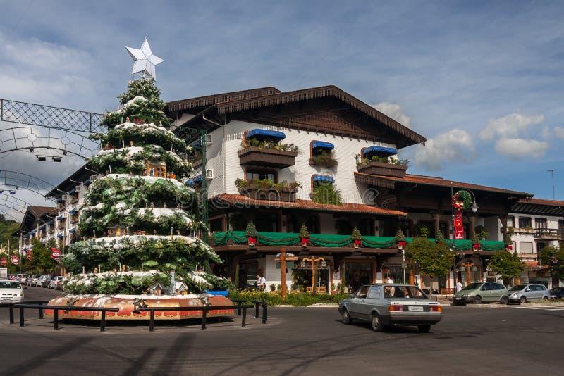 De Decoratie van Kerstmis in Gramado royalty-vrije stock foto
