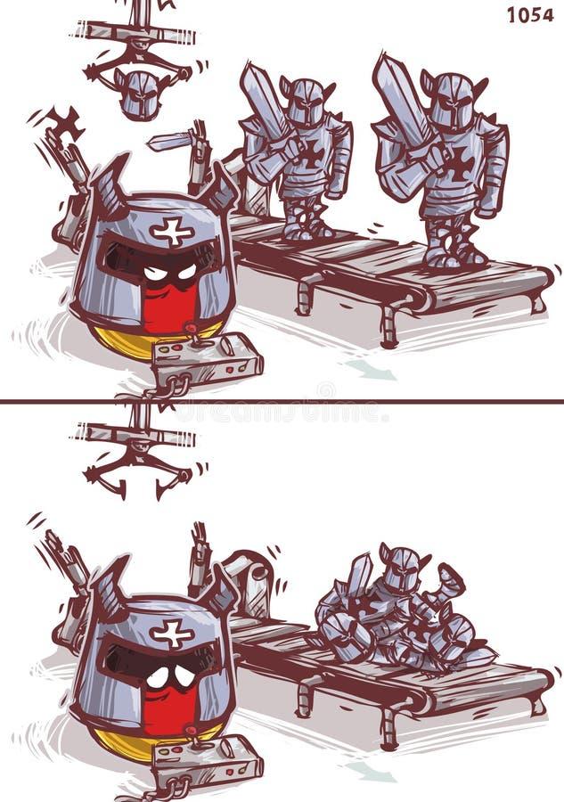 De Duitse kruisvaarder van de productiemachine stock illustratie