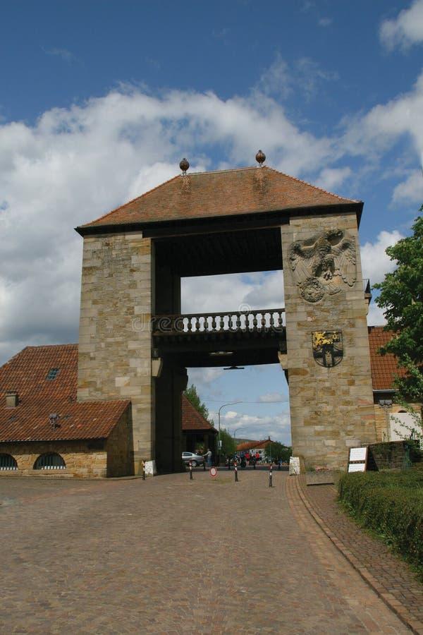 De Duitse Poort van de Wijn stock afbeelding