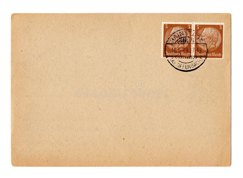 De Duitse prentbriefkaar Hindenburg van het Duitse Rijk royalty-vrije stock foto's
