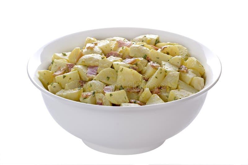 De Duitse Salade van de Aardappel stock foto's