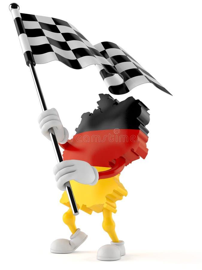De Duitse vlag van het karakter golvende ras vector illustratie