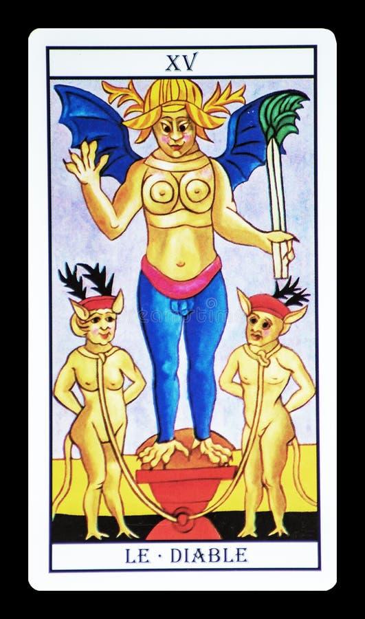 De duivel in het tarot royalty-vrije stock afbeelding