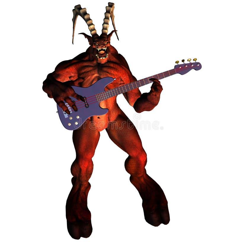 De duivel met gitaar vector illustratie