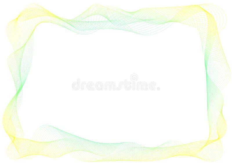 De dunne grens van het Sluier Stromende kader stock illustratie