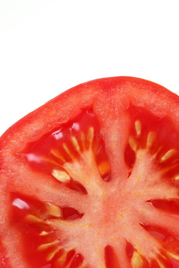 De dwarsdoorsnede van de tomaat royalty-vrije stock foto's