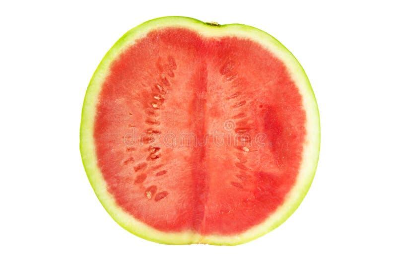 De dwarsdoorsnede van de watermeloen stock foto