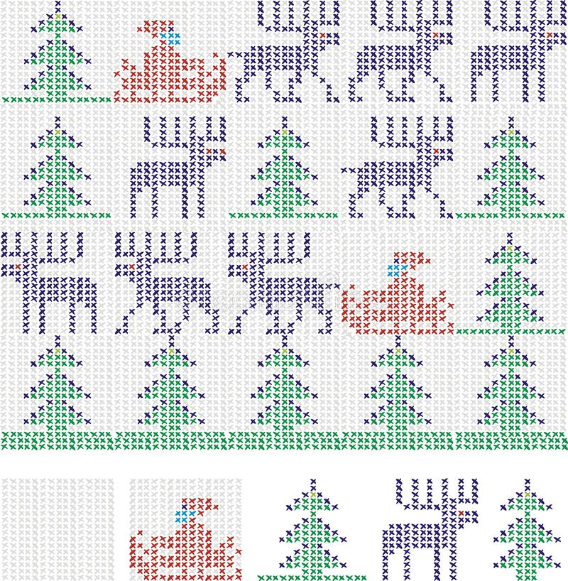 De dwarssteek van Kerstmis stock illustratie