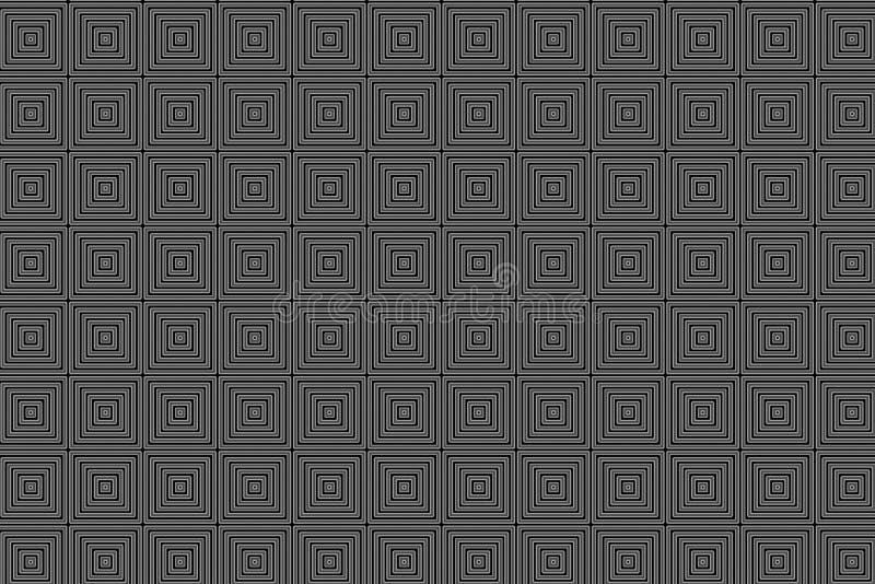 De dynamische digitale vierkante creatieve zwarte abstracte achtergrond van het textuurpatroon Het element van het ontwerp royalty-vrije illustratie