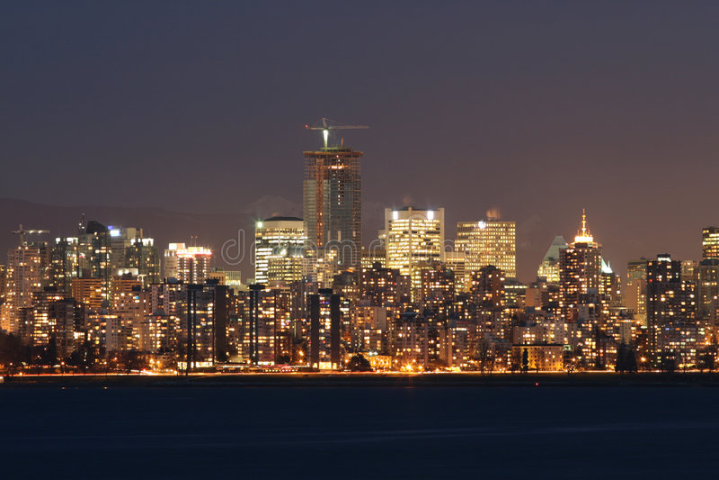 De dynamische Horizon van de Stad stock foto