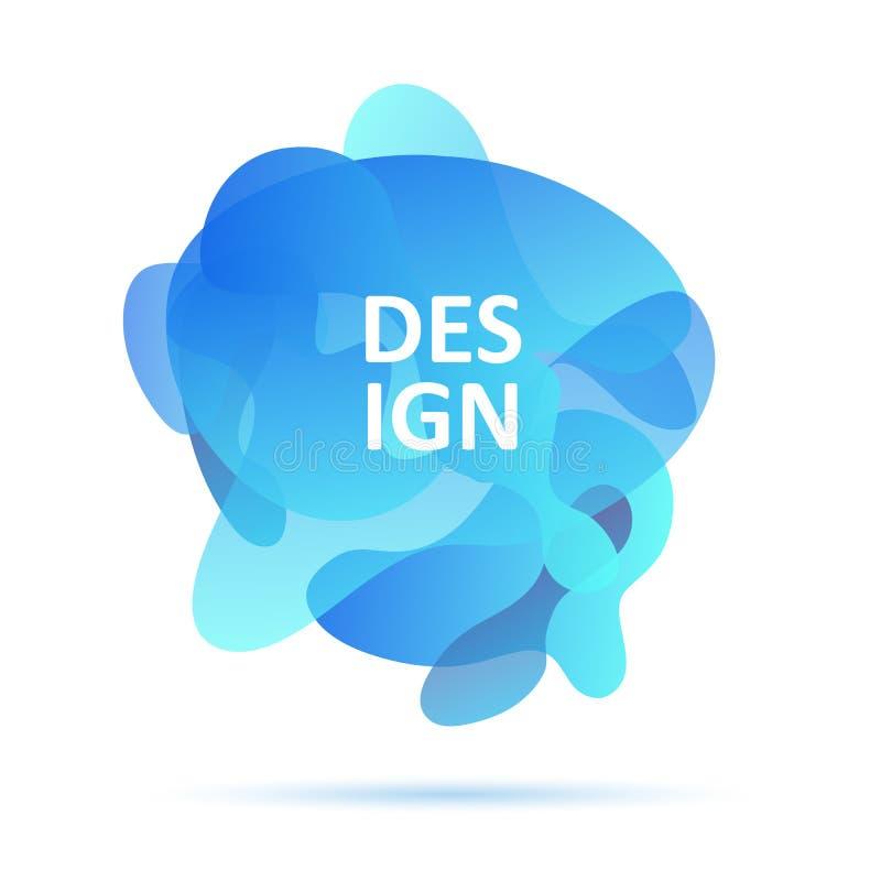De dynamische vormen, blauwe kleuren, vatten modern grafisch element, blauwe kleuren samen royalty-vrije illustratie
