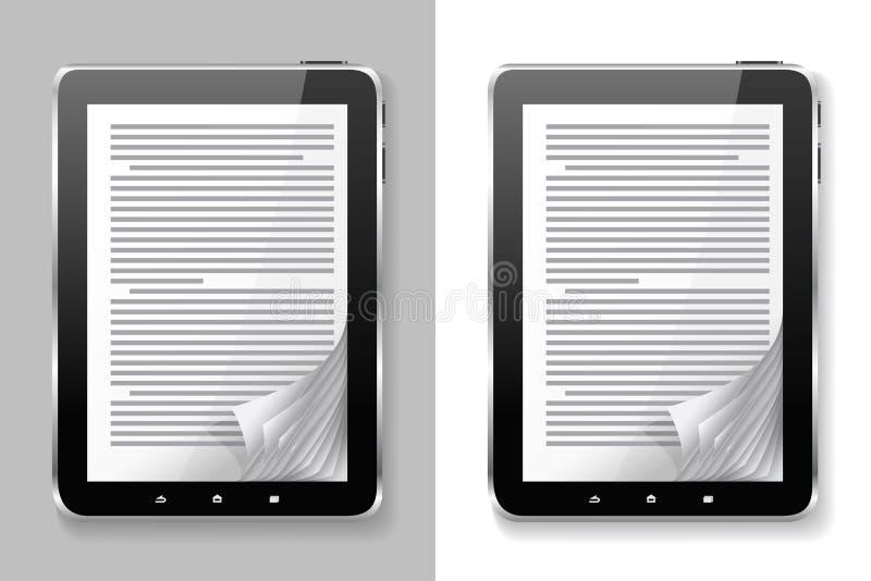 De reeks van EBook. vector illustratie