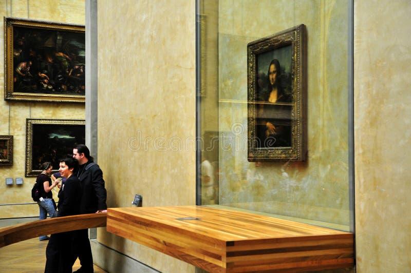 de E Lisa loure Mona mus Paris obrazy stock
