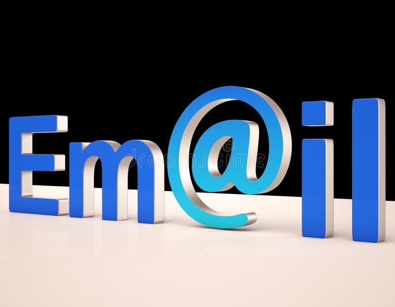 De e-mail Brieven toont Correspondentie op Web vector illustratie