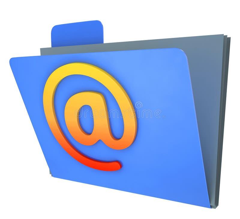 De e-maildieOmslag toont Correspondentie in Groepen wordt georganiseerd stock illustratie