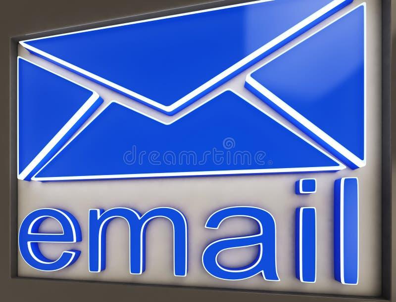 De e-mailtekenknoop toont Online Correspondentie vector illustratie
