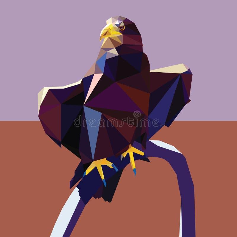 De Eagle diseño polivinílico bajo stock de ilustración