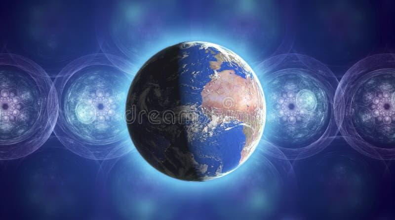 De echte Planeet van de Aarde in ruimte stock illustratie