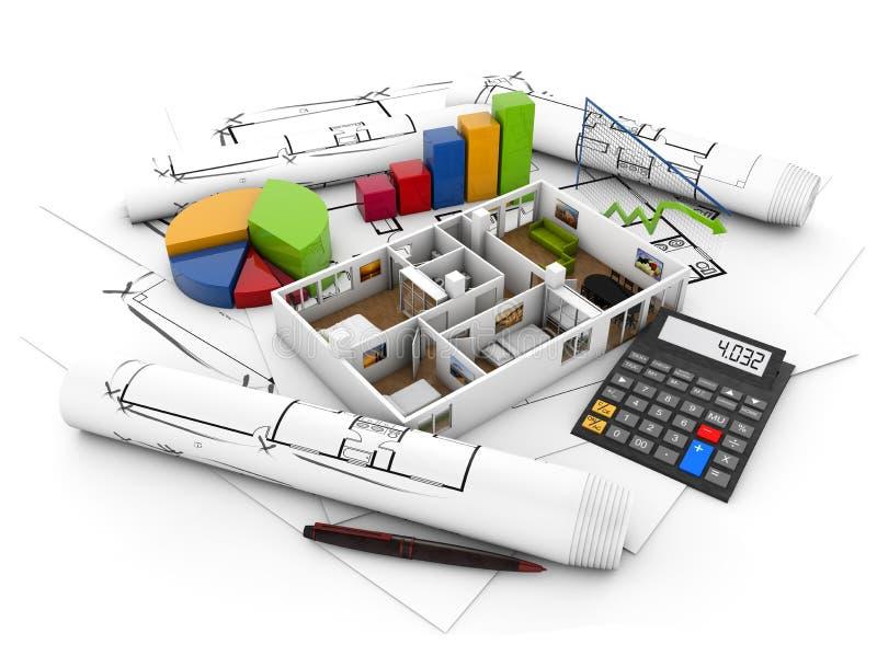 De echte staat financiert concept vector illustratie