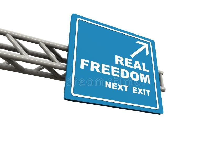 Echte vrijheid royalty-vrije illustratie
