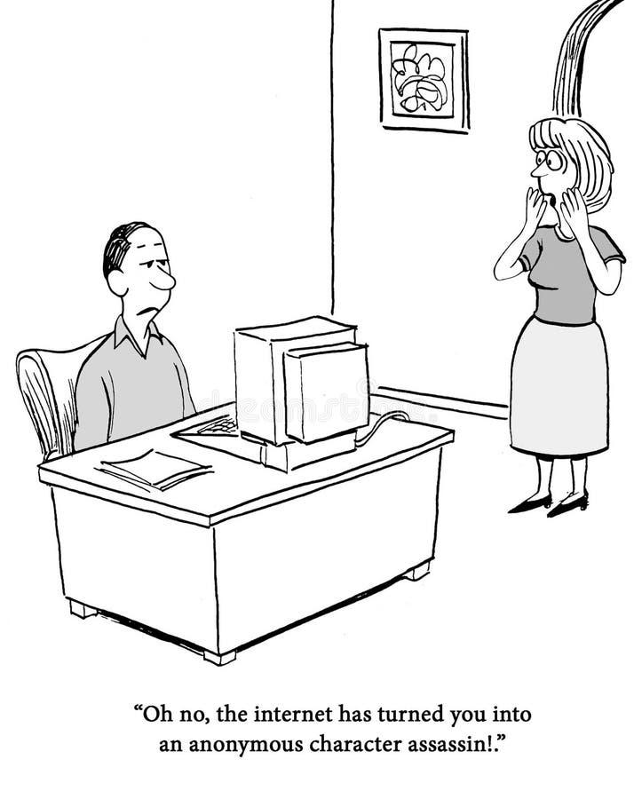 De echtgenoot is een moordenaar geworden vector illustratie