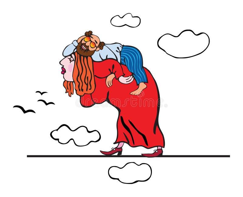De echtgenoot en de vrouw royalty-vrije illustratie