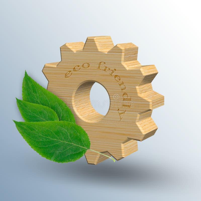 De Ecofrendlyindustrie en het concept van het milieubehoud royalty-vrije illustratie